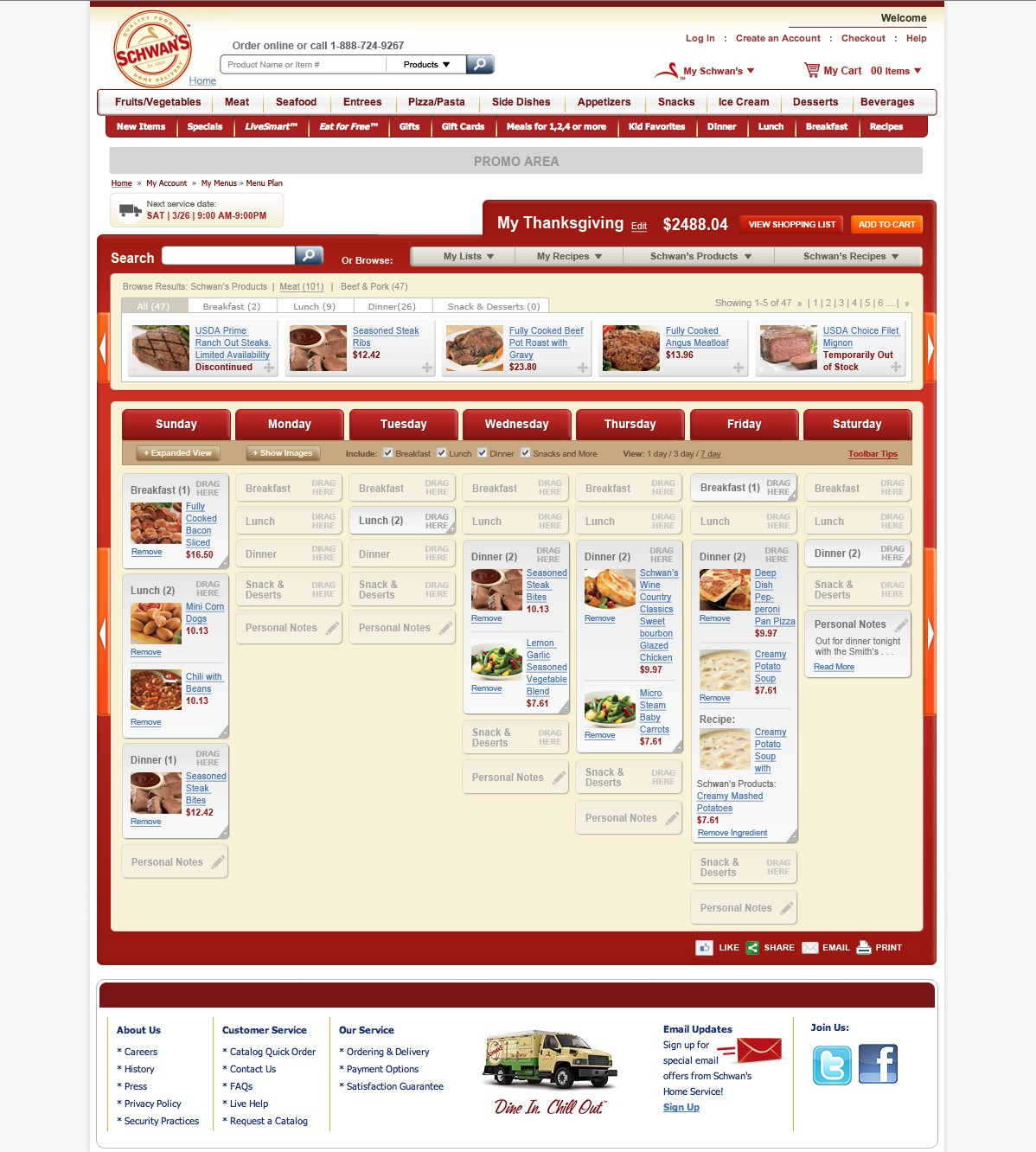 Schwans Meal Planning Tool
